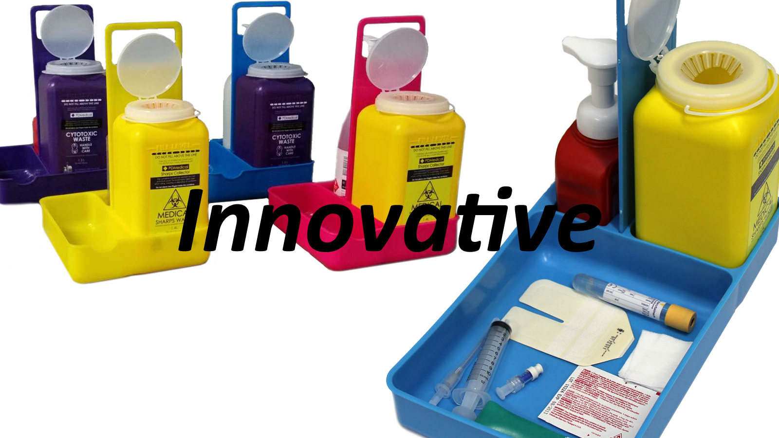 infection control sharps disposal caddy
